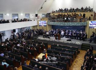 Culto de Ações de Graças pelo aniversário do Pastor Simoni Hélio de Moraes, Presidente da AD Belo Ho