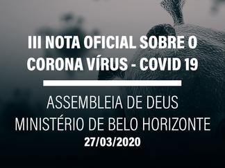 II NOTA OFICIAL - PROGRAMAÇÃO DA ASSEMBLEIA DE DEUS MINISTÉRIO BELO HORIZONTE