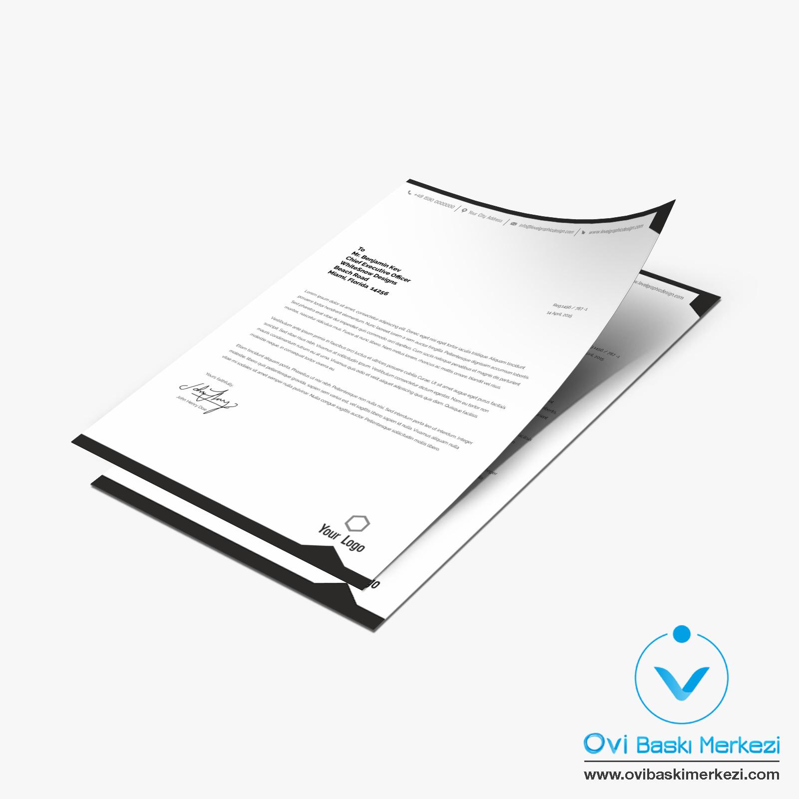 Antetli Kağıt -1