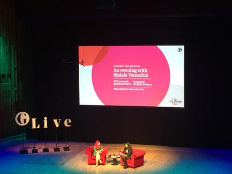An evening with Malala Yousafzai