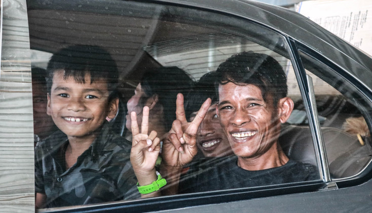 After the deportation, they were excited to go back home to celebrate the Khmer New Year.