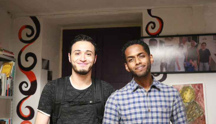 Albaaga from Libya and Hassan from Eritrea are refugee entrepreneaurs. They co-found a NGO to support other refugees and migrants to settle down in Malta.