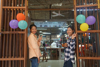 Our annual half-year party of our community factory