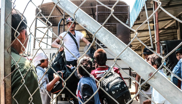 Undocumented Cambodian migrants were deported from Thailand to Poipet, the border city in Cambodia.