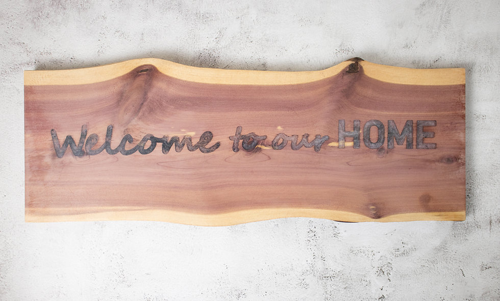 Live Edge Home Wall Sign