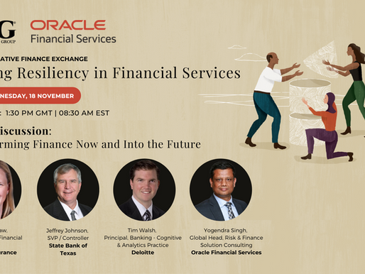 Transforming Finance Now and into the Future