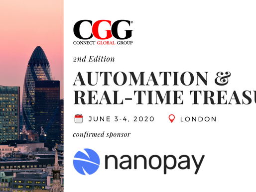 Sponsor Announcement: Nanopay - 2nd Edition Automation & Real-Time Treasury