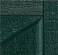 Green Wood Garage Door