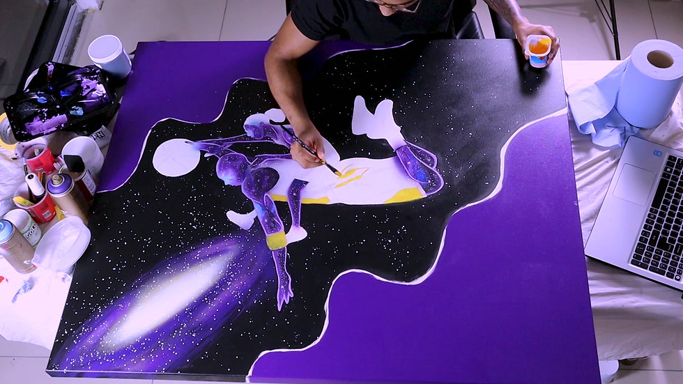 Mamba Out Space Dunk Painting