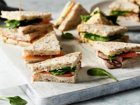 Sandwich platter (24 quarters): $47.90
