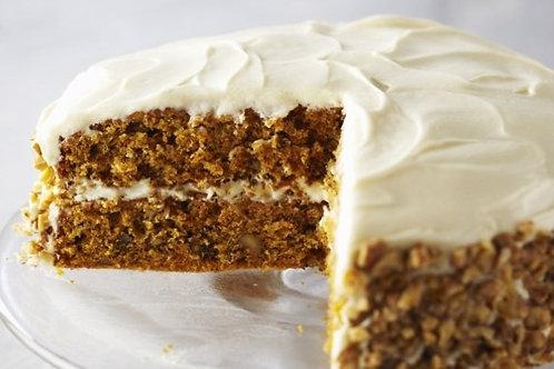 Carrot, orange and nut cake (3 sizes, 48h notice)