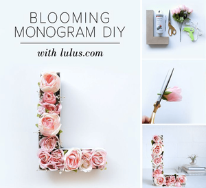 Wix Mother's Day Gift Idea: Pinterest Inspired Blooming Monogram DIY
