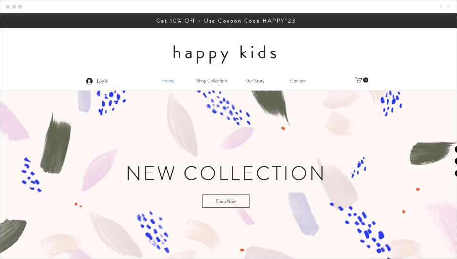 Kids apparel template