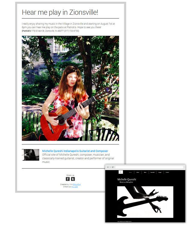 Michelle Qureshi - newsletter Wix