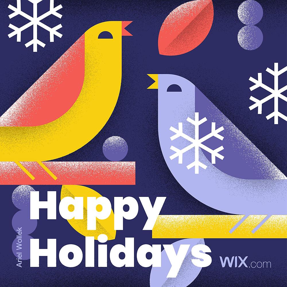 Online greeting card design by illustrator Ariel Wollek