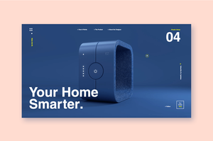Website design for product showcase