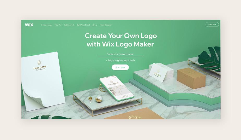 윅스 로고 메이커로 만든 아름다운 웹사이트 이미지