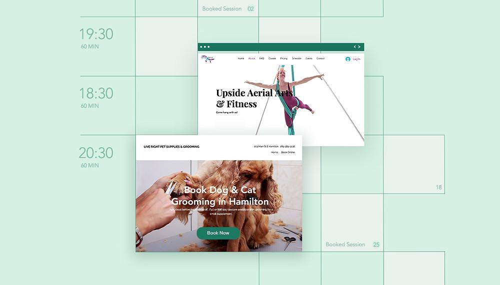wix bookings randevu sitesi örnekleri