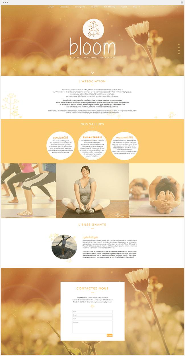 Bloom Pilates Site Wix