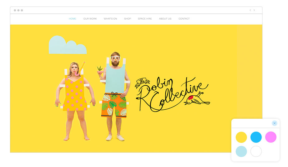 The Robin Collective Wix website
