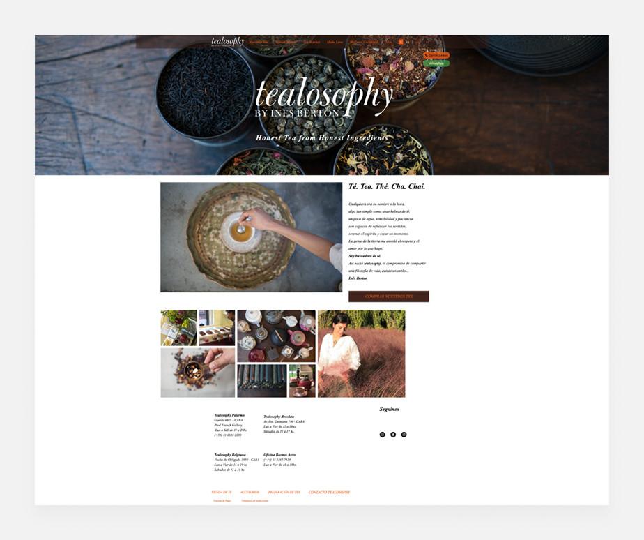 Tealosophy como ejemplo de una página web exitosa