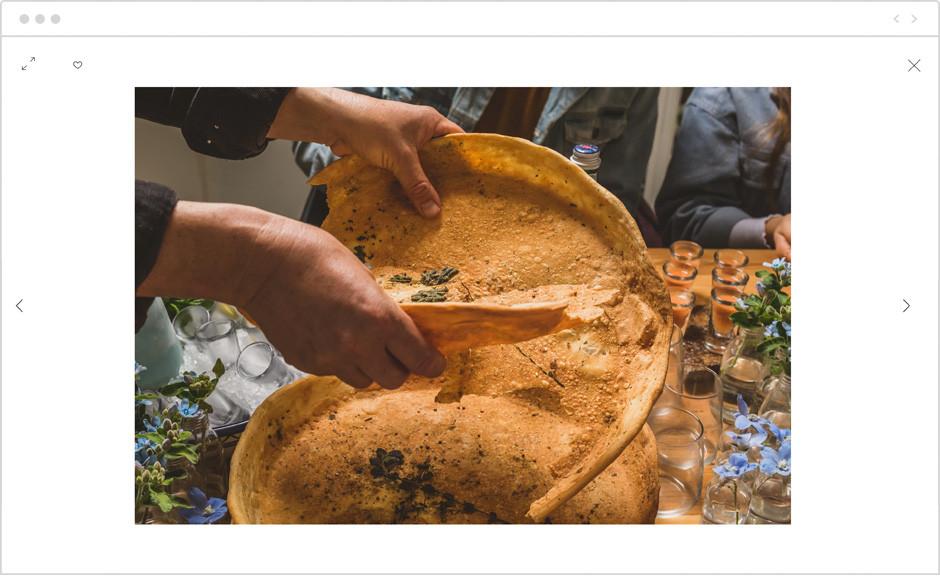 Wix 포토앨범을 이용한 음식 사진