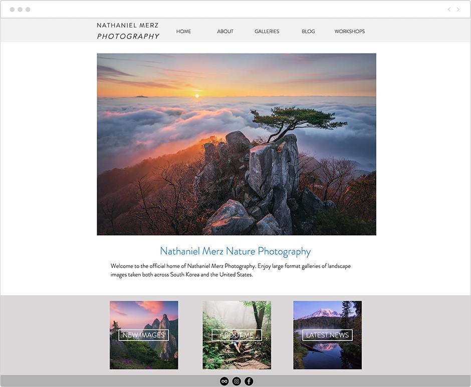 風景写真家サイト Nathaniel Merz