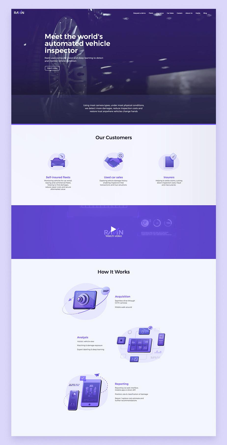 Ejemplo de página web empresarial de Ravin AI