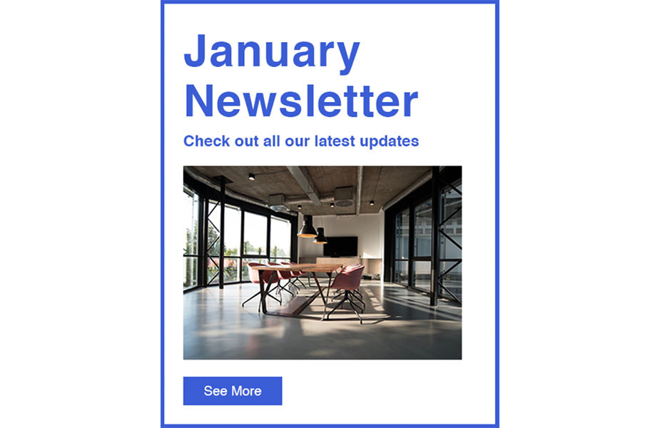 Send a Newsletter newsletter template by Wix