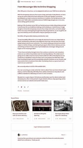 Blog del sito di Fisher & Donaldson