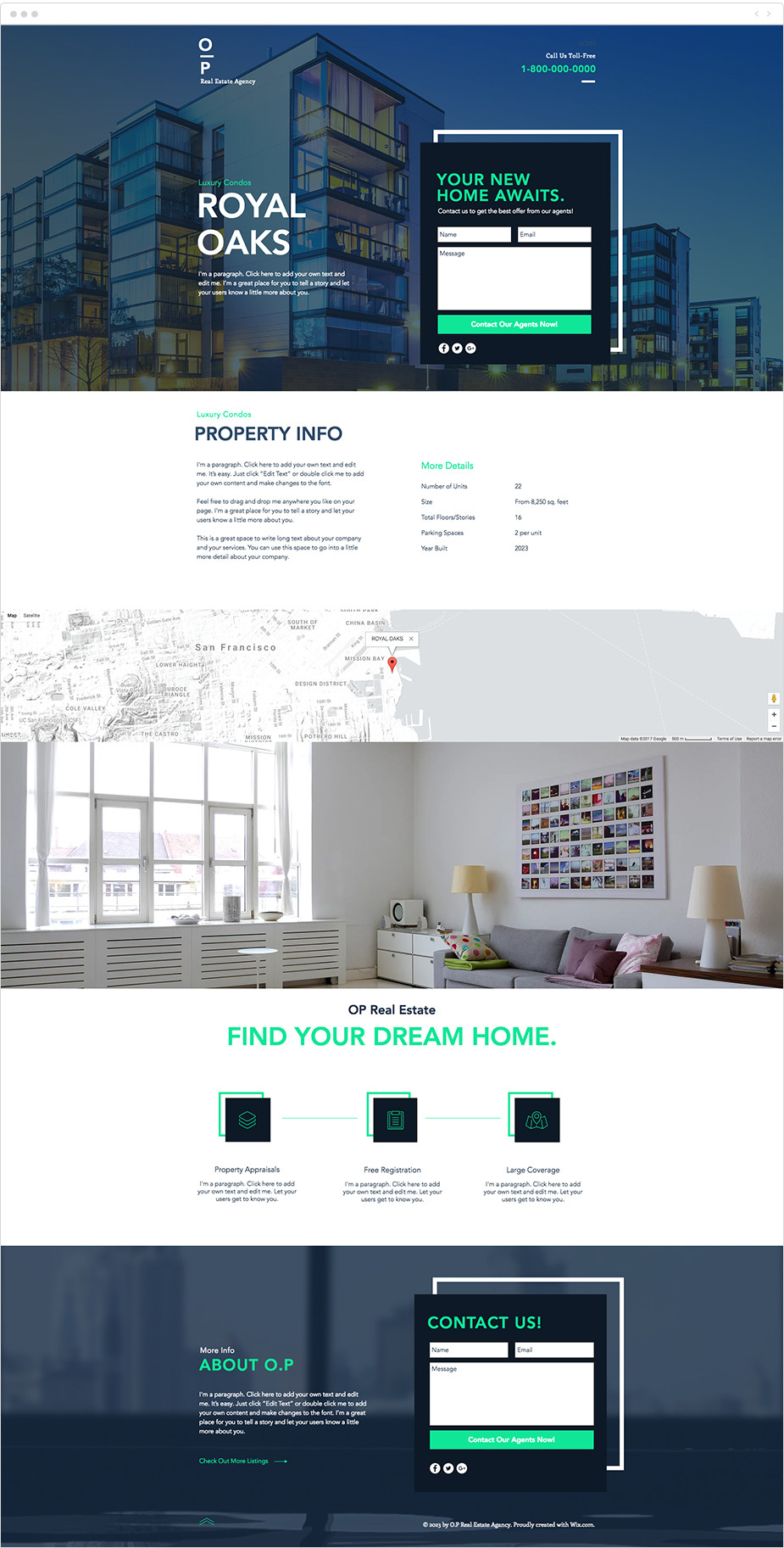 Real estate free landing page template