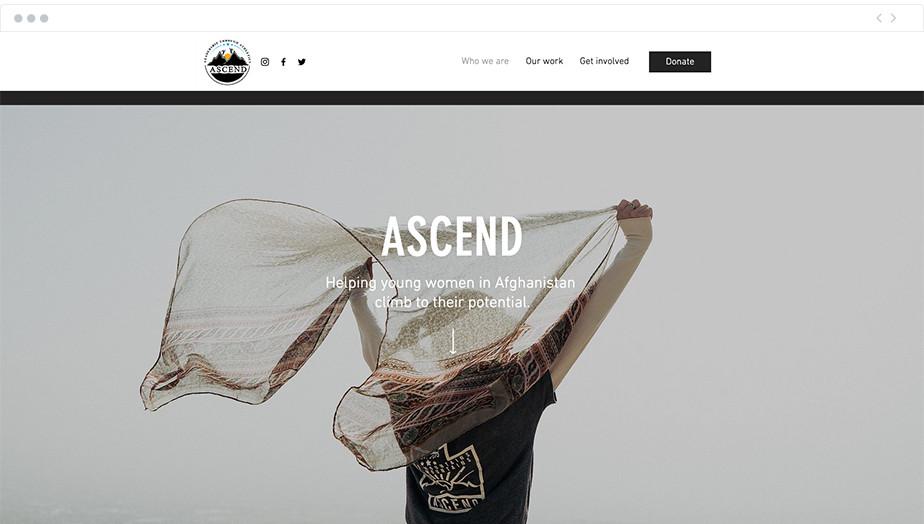 Ascend nonprofit website