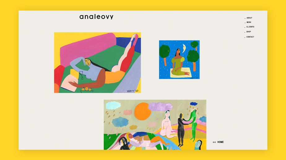Best website design by Ana Leovy