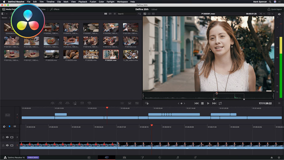 Logiciel montage video gratuit - DaVinci Resolve