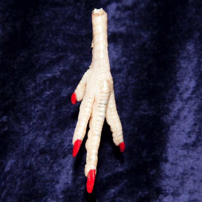 pâte de coq avec ongles