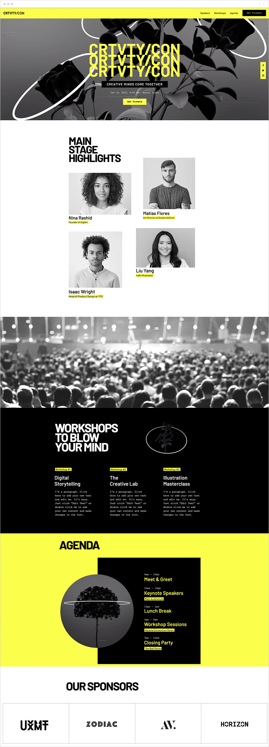 Digital conference free landing page template