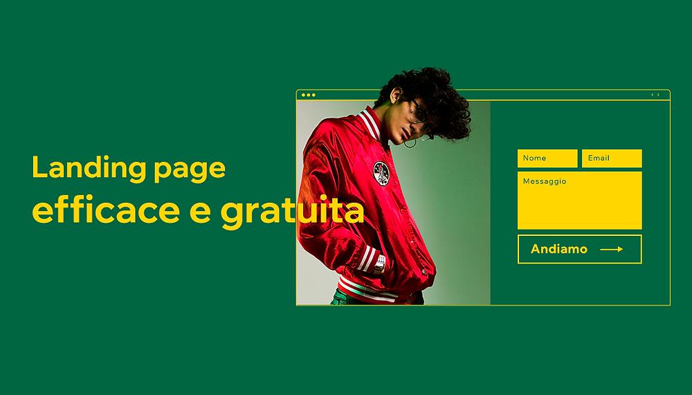 Landing page gratuita con Wix