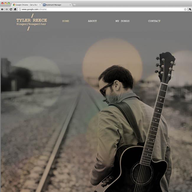 Шаблон сайта для музыканта