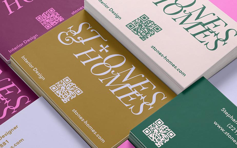визитки с QR кодом