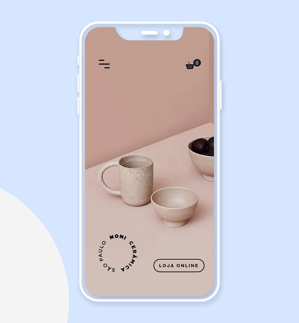 Exemple design mobile : Noni Ceramica
