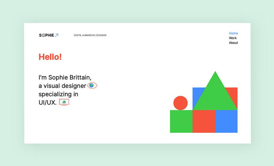 Exemplo de tendências de web design em 2021: minimalismo e maximalismo