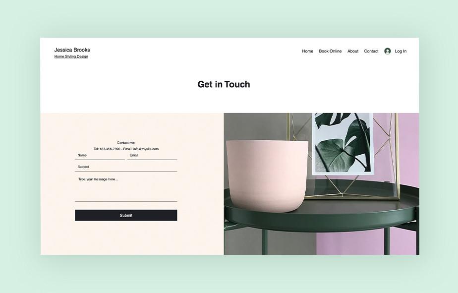 Как создать сайт портфолио для архитектора —пример формы обратной связи