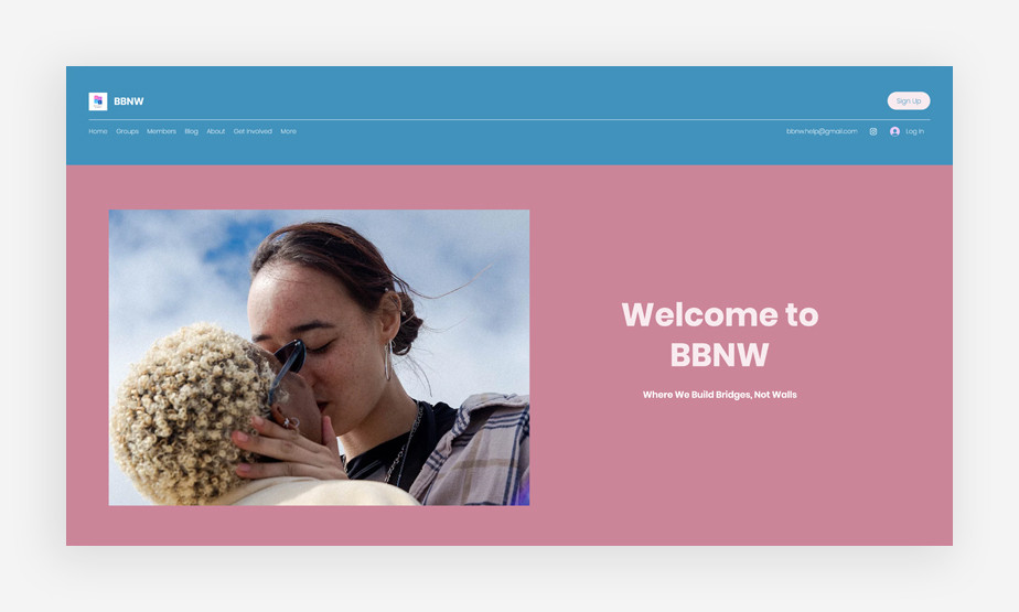 Imagem de um site amigável para a comunidade LGBTQIA+
