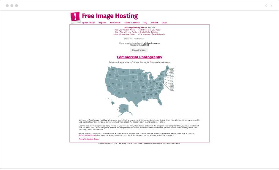 9 лучших бесплатных хостингов изображений: Free Image Hosting