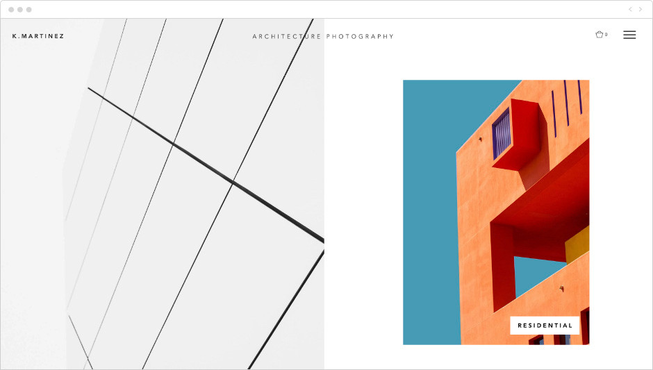 Architecture photography template