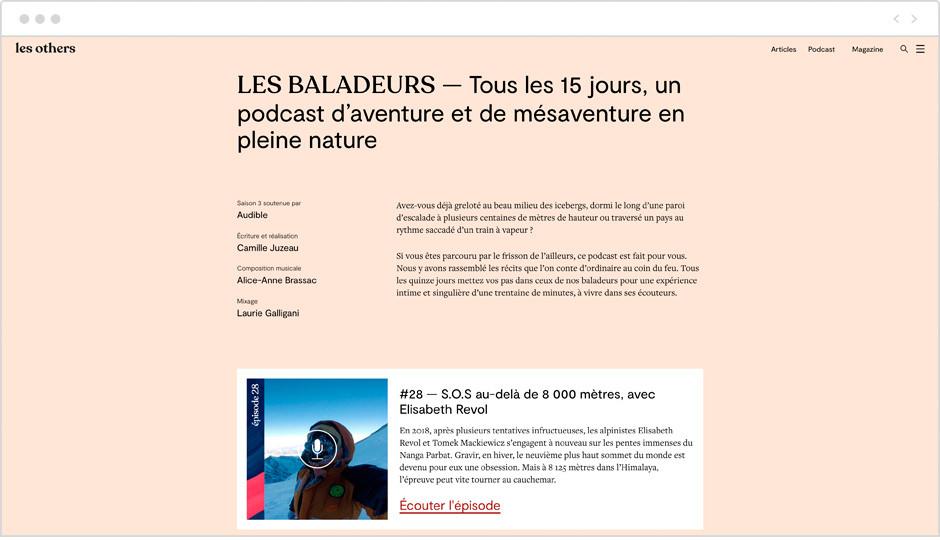 Les meilleurs podcasts français : Les baladeurs