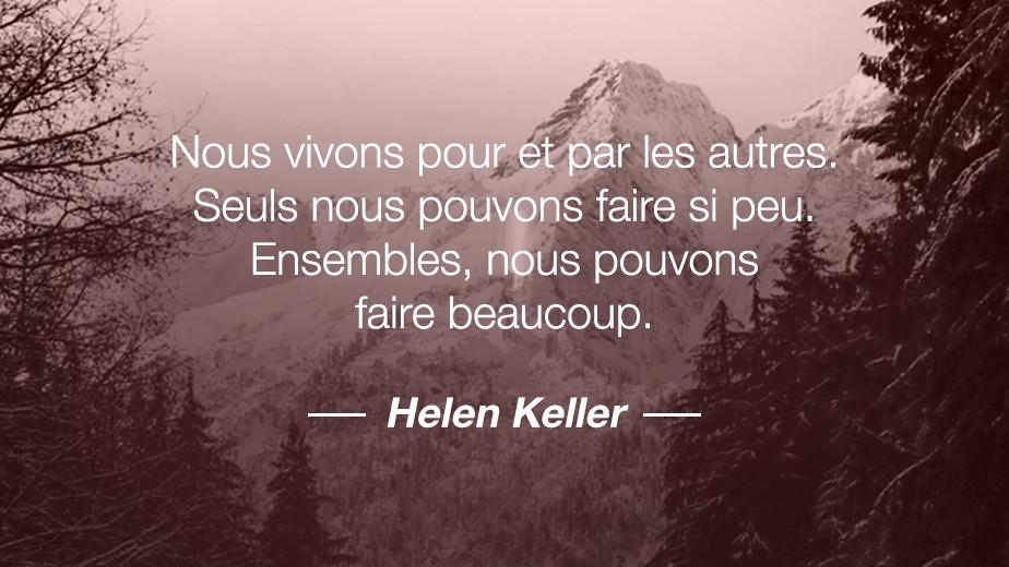 Citation Helen Keller