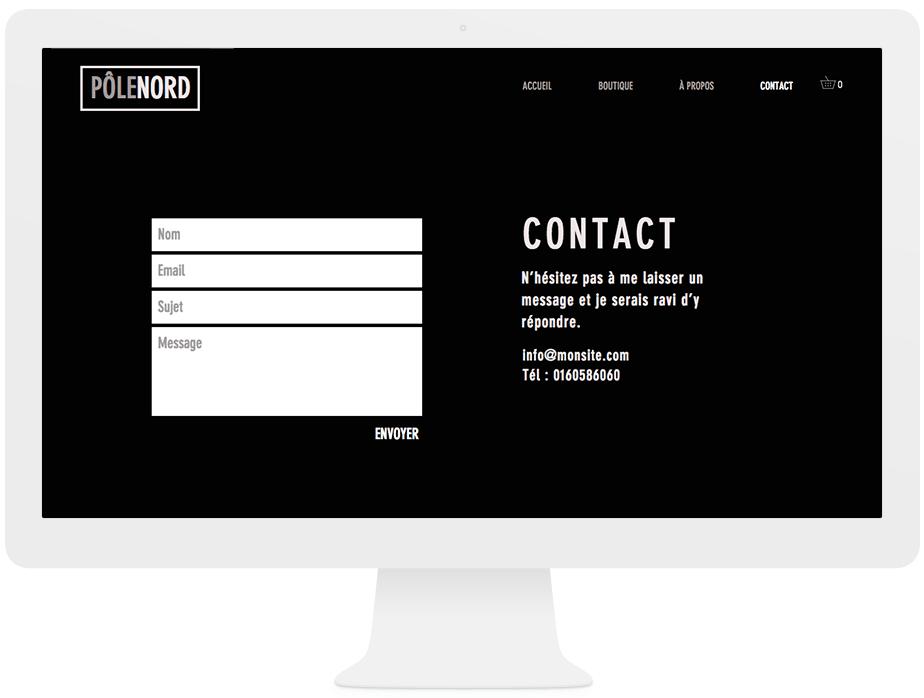 Page de contact