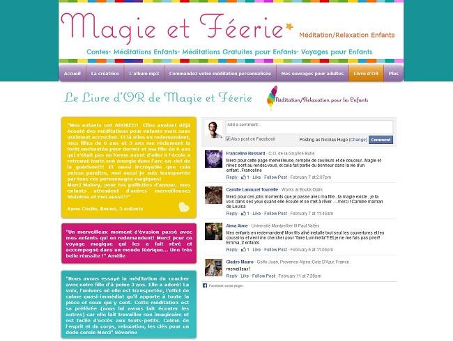Livre d'or du site Magie et Féerie