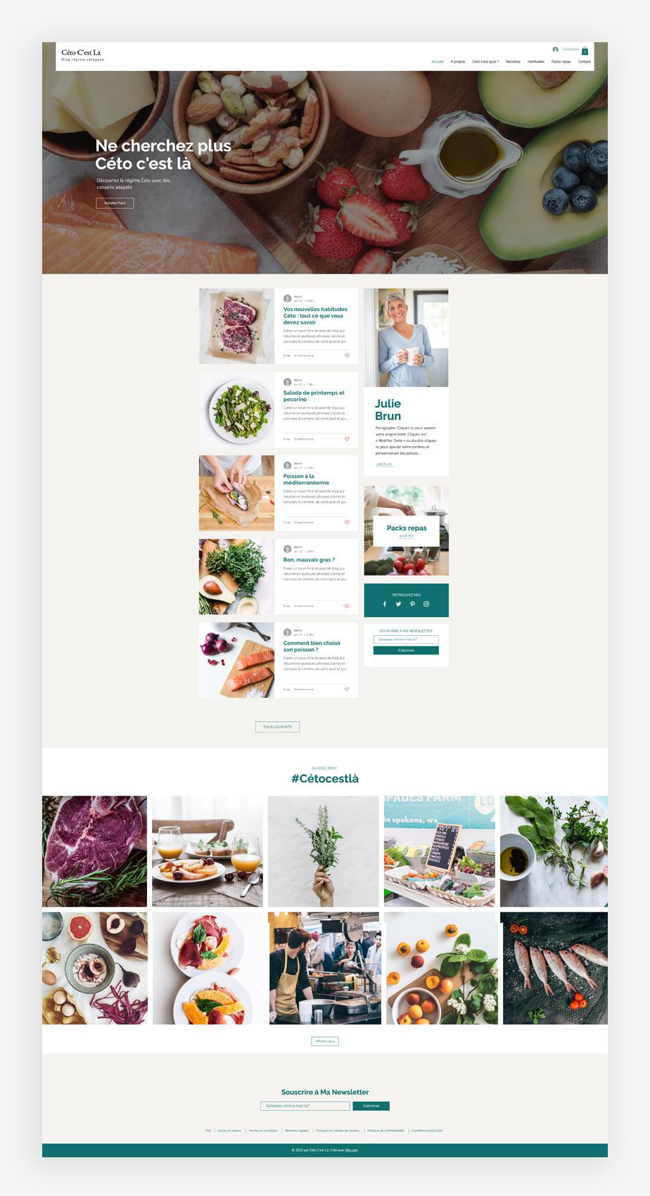 template de blog diététique
